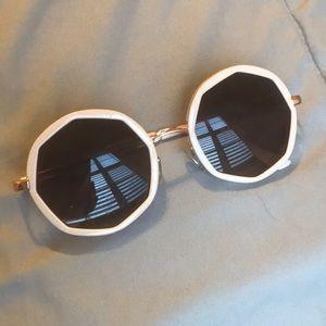 Creme Circular Sunglasses
